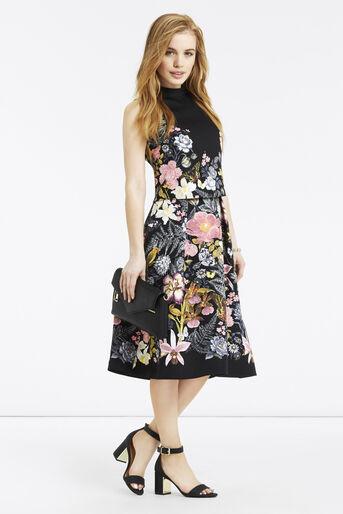 Oasis, Petite Botanical Midi Skirt Multi Black 2