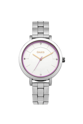Oasis, STAINLESS STEEL BRACELET WATCH Silver 0