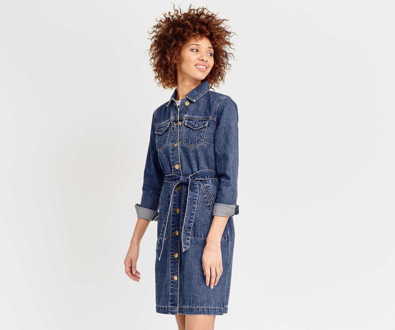 Oasis, DARIA SHIRT DRESS Denim 1