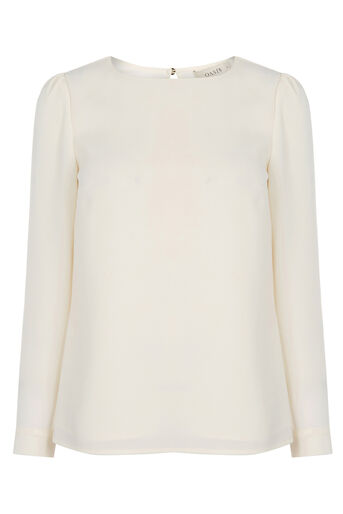 Oasis, CREPE WRAP BACK TOP Off White 0
