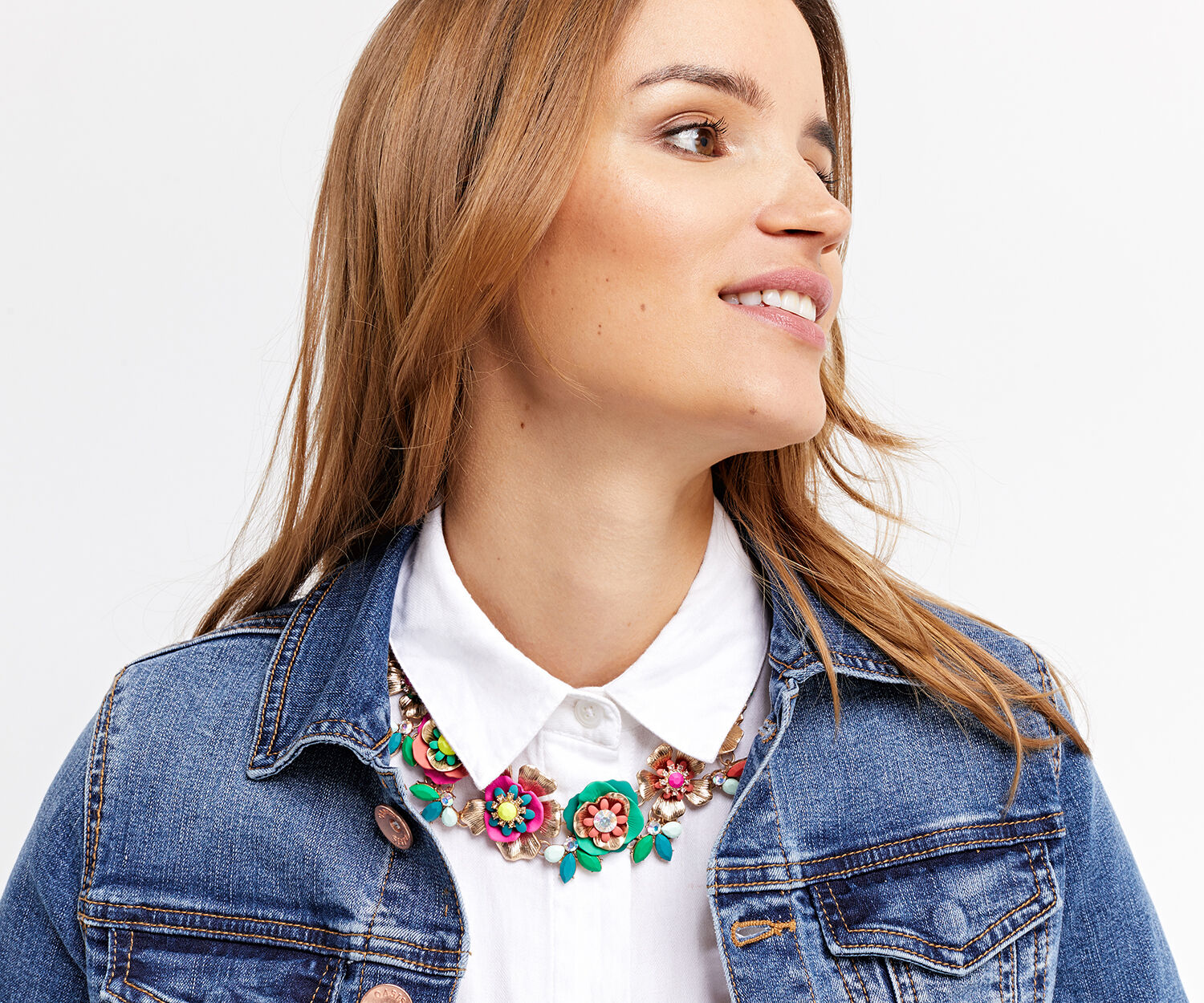 Oasis, FLORAL COLLAR NECKLACE Multi 1
