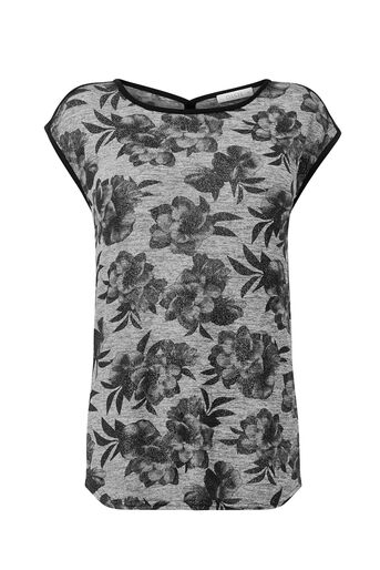 Oasis, SHIMMER FLORAL TEE Multi 0