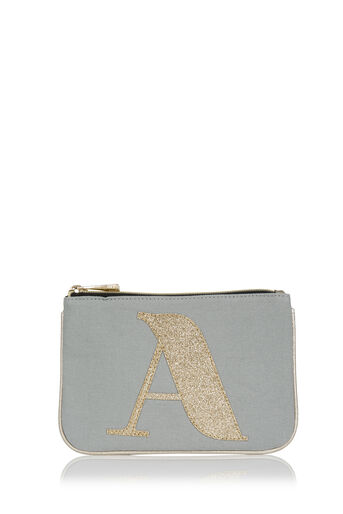 Oasis, LETTER A POUCH Pale Grey 0