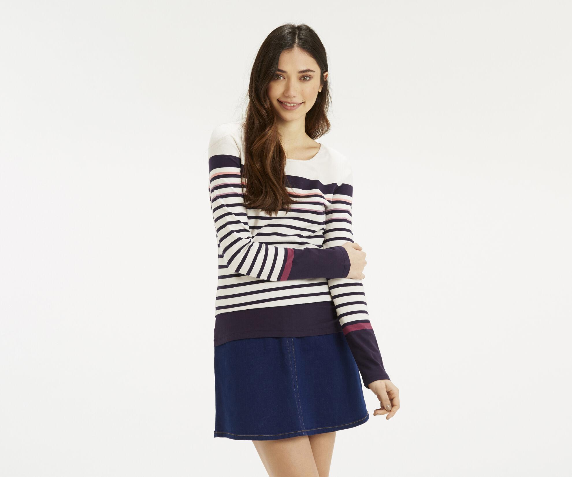 Oasis, Multi Coloured Stripe Crew Multi 1