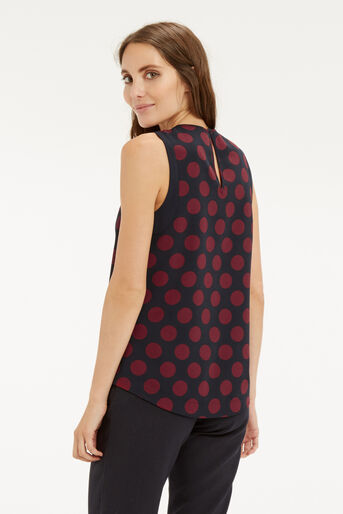 Oasis, SPOTTED SLEEVELESS TOP Multi Blue 3