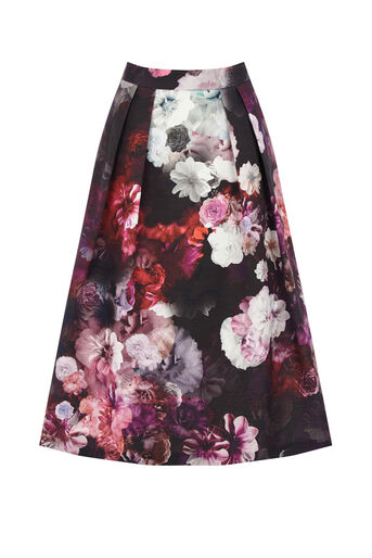Oasis, WINTER FLORAL MIDI SKIRT Multi 0