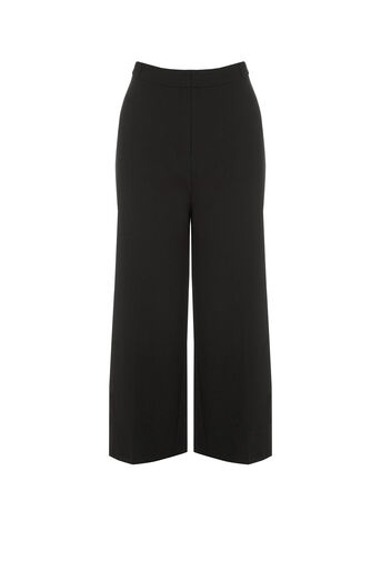 Oasis, Cropped Trouser Black 0