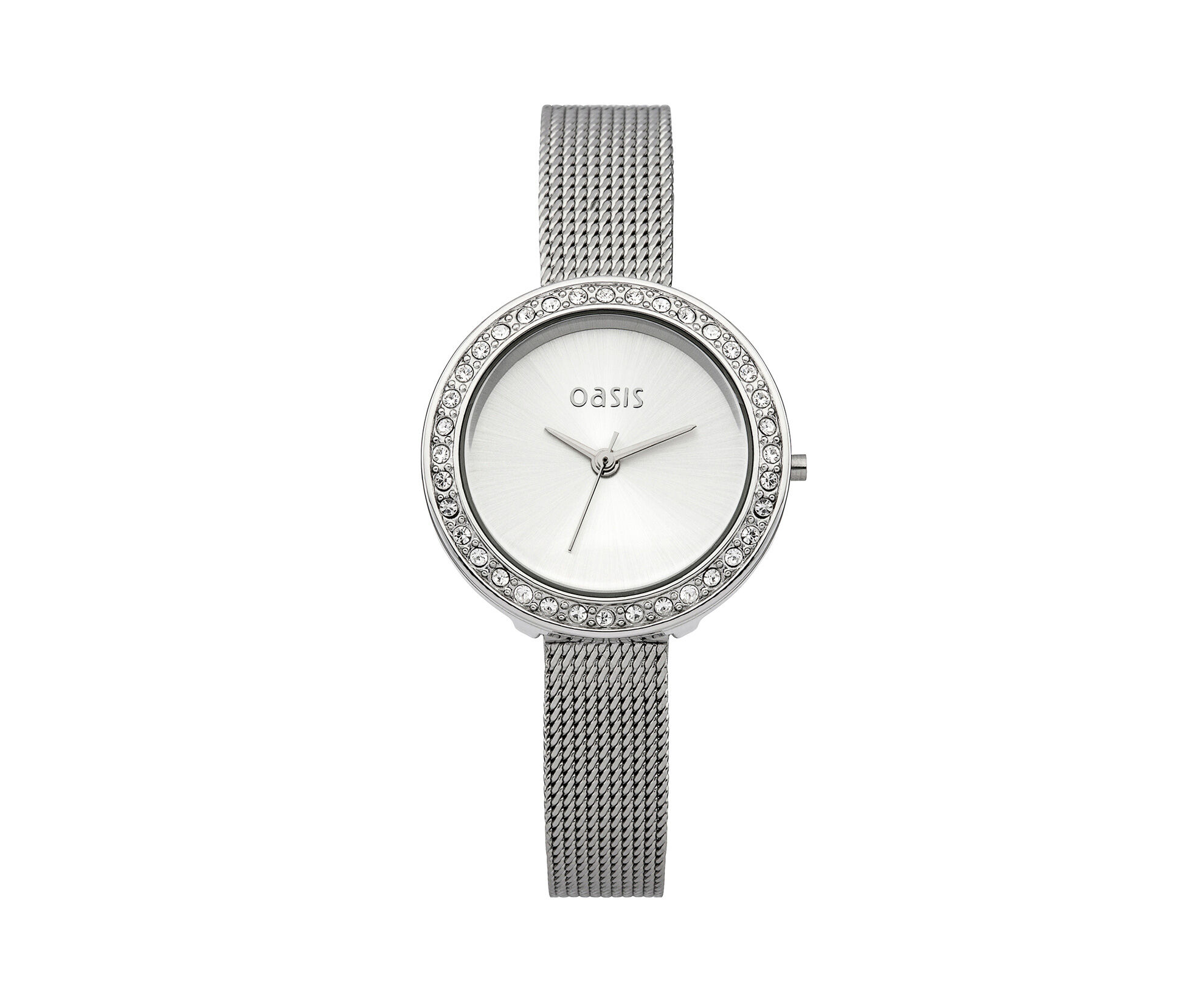 Oasis, Mesh Strap Silver Dial Watch Silver 0