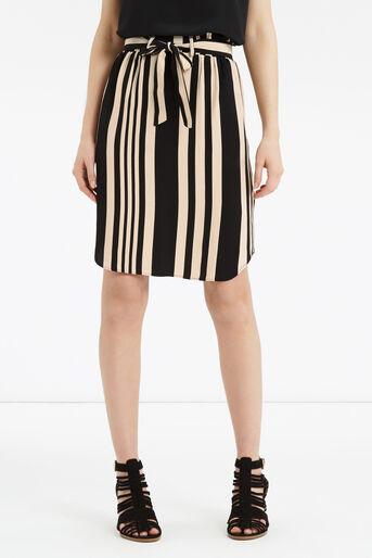 Oasis, Paperbag Stripe Skirt Multi Black 1