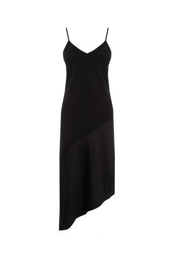 Oasis, Asymmetrical Midi Dress Black 0