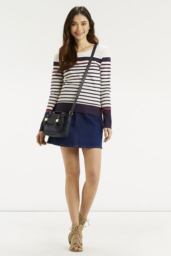 Oasis, Multi Coloured Stripe Crew Multi 2