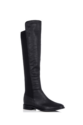 Oasis, LEATHER KNEE-HIGH BOOTS Black 0