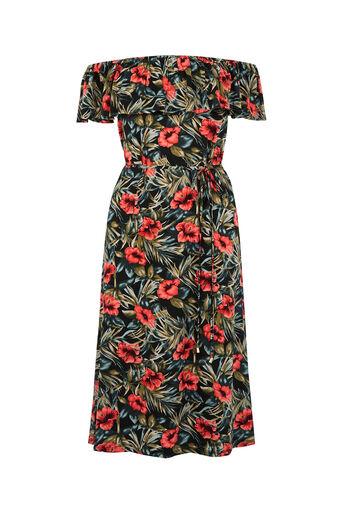 Oasis, Waikiki Print Ruffle Dress Multi 0