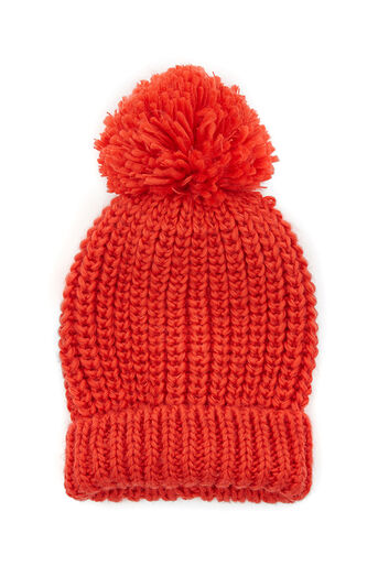Oasis, JANEY POM POM BEANIE Mid Orange 0