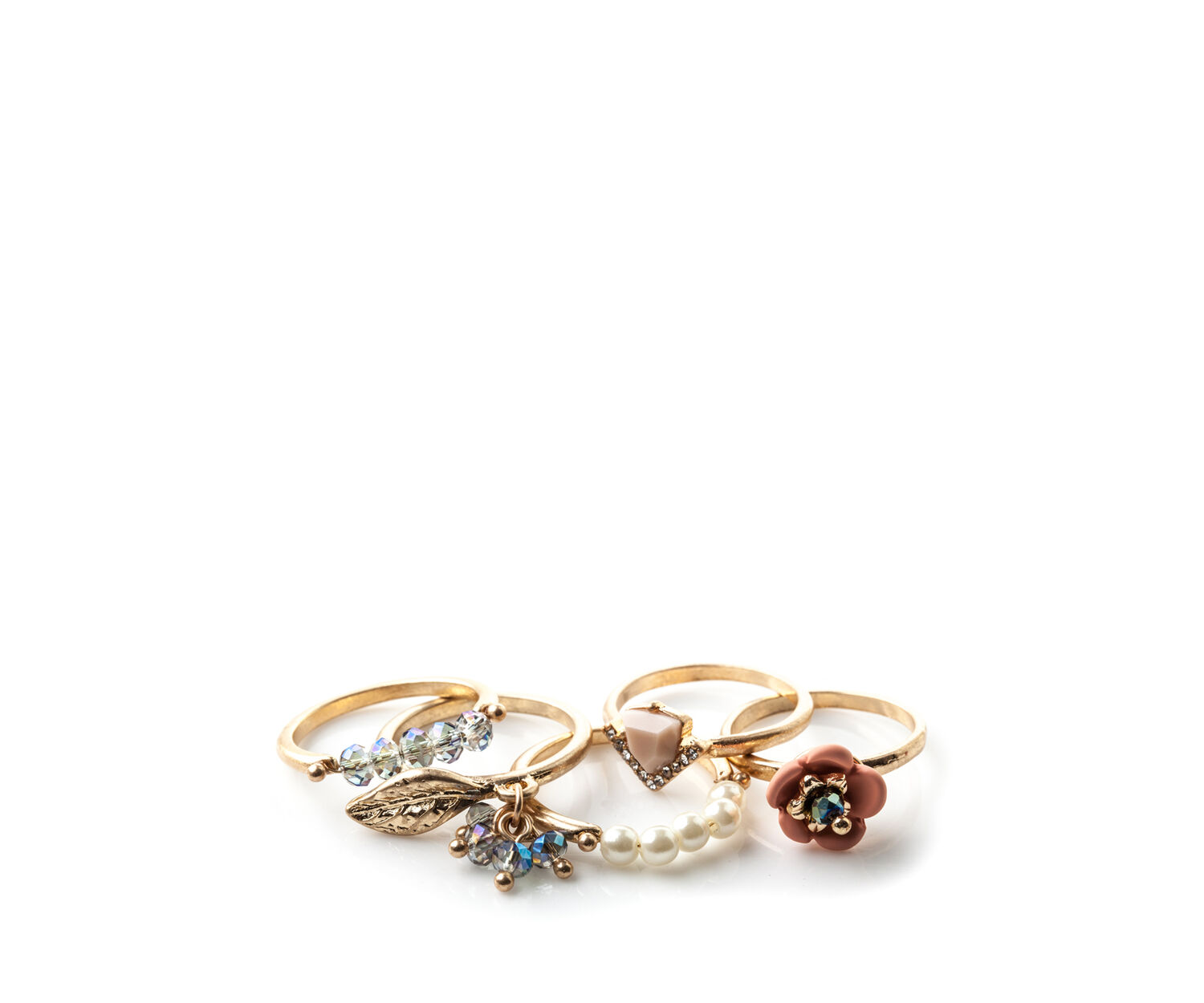 Oasis, 5 PACK RING SET Gold 1