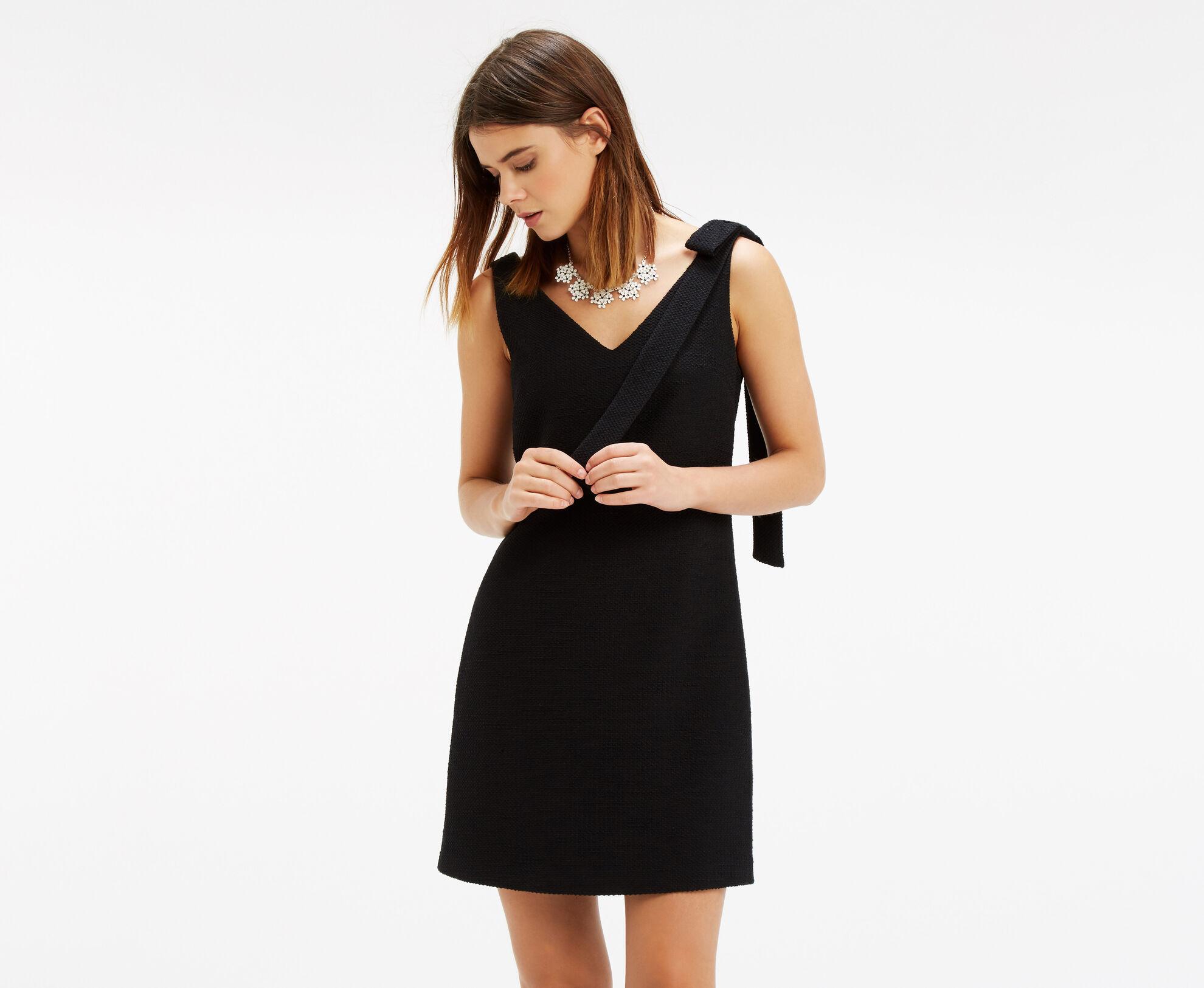 Oasis, Bow Shoulder Dress Black 1