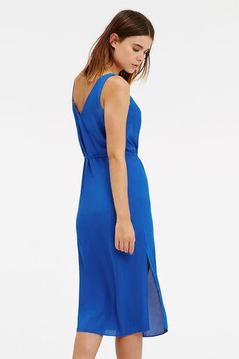 Oasis, V Front And Back Midi Dress Mid Blue 3