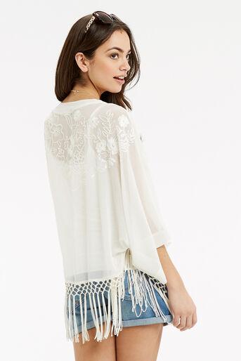 Oasis, Skyla Embroidered Kimono White 3