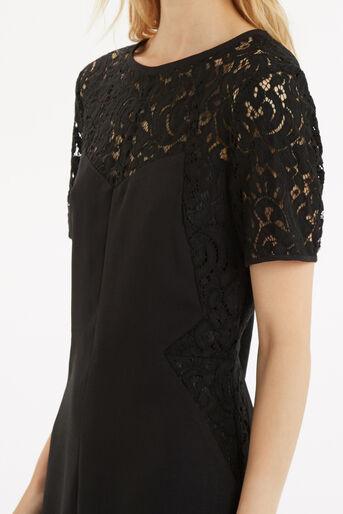 Oasis, Lace Patched Dress Black 4