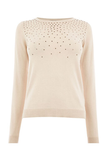 Oasis, Studded jumper Pale Pink 0