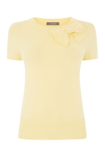 Oasis, BOW BALLET TEE Mid Yellow 0