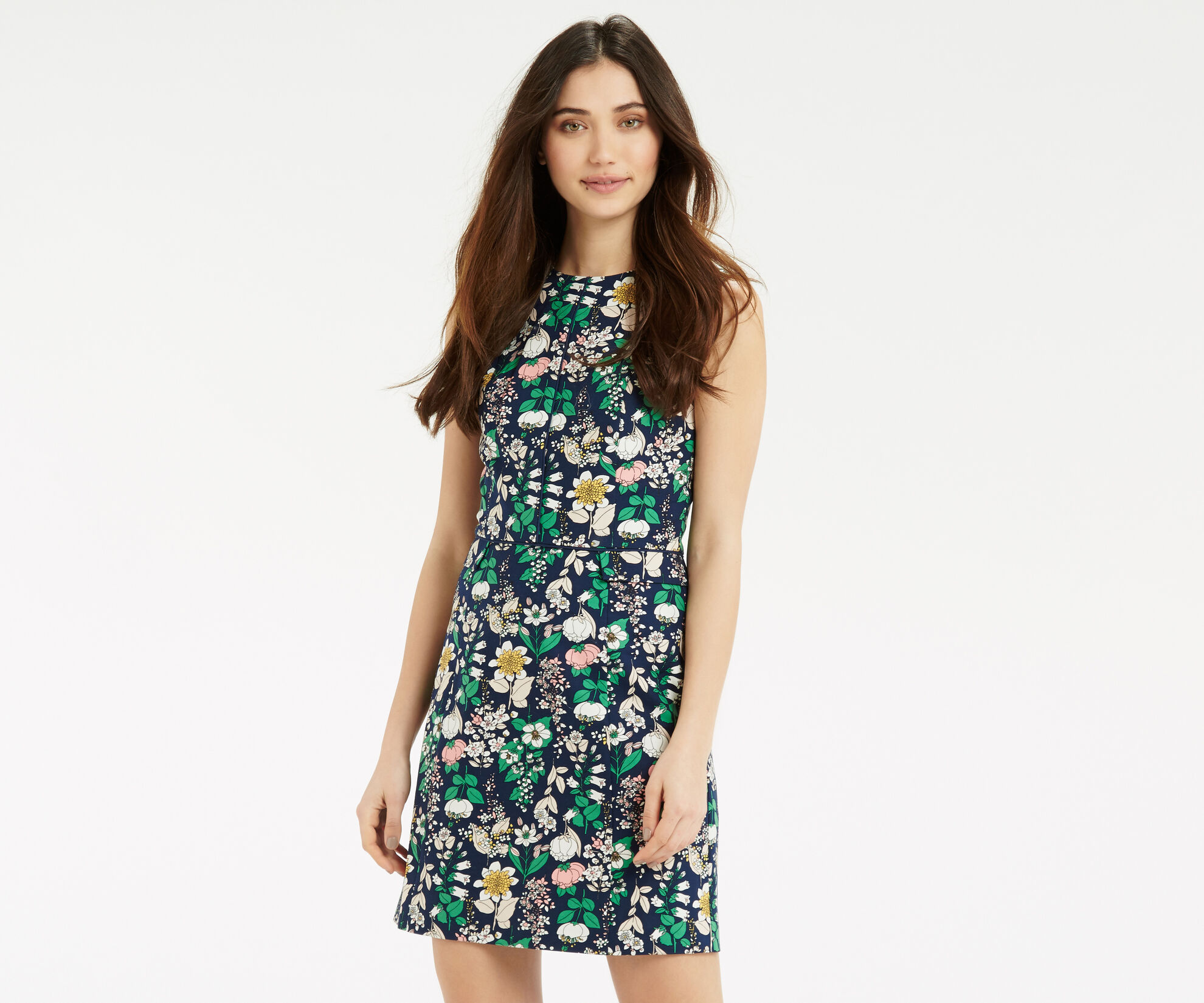 Oasis, The Print-Packed Shift Navy 1