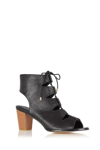 Oasis, The Luxe Lace Up Black 0