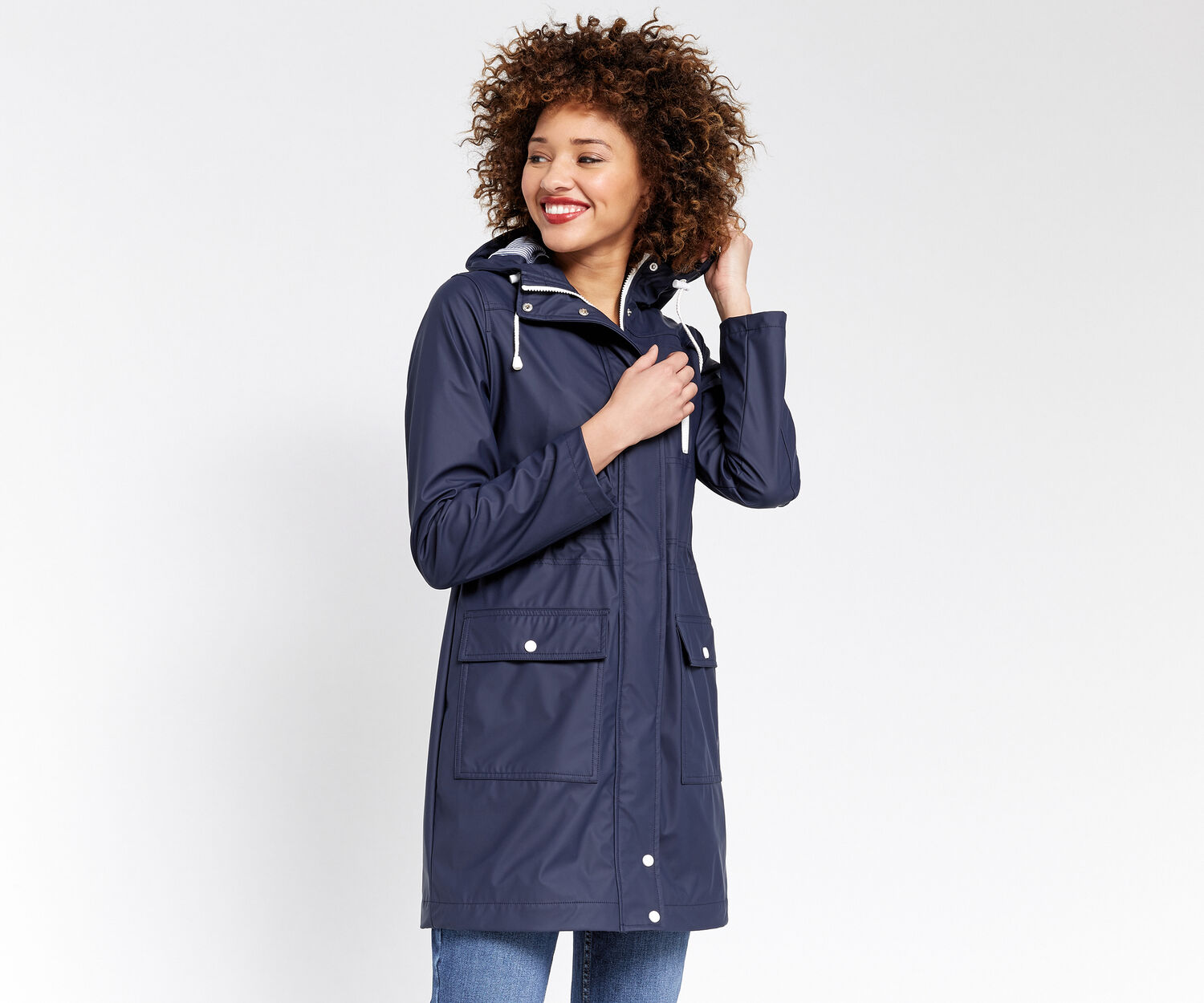 Oasis, JOSIE RAINCOAT Navy 1