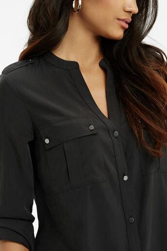 Oasis, Tencel Shirt Black 4