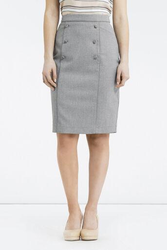 Oasis, Petite Workwear Skirt Pale Grey 1