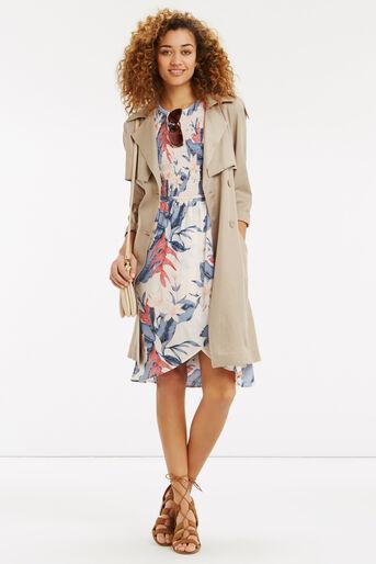 Oasis, Tropical Fancy Smocked Dress Multi Pink 2