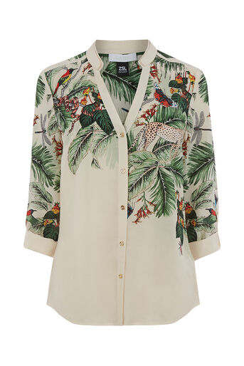 Oasis, ZSL PLACEMENT SHIRT Multi Natural 0