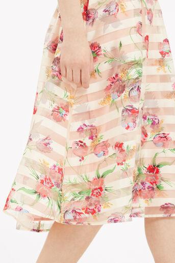 Oasis, Floral Organza Midi Skirt Multi Natural 4
