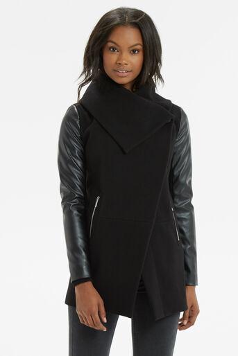 Oasis, Cara Drape Coat Black 1