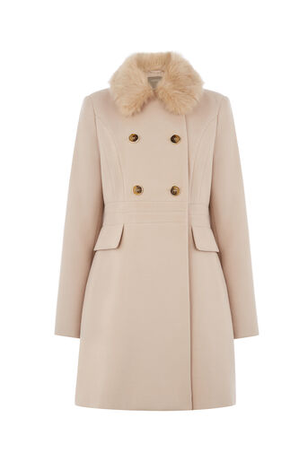 Oasis, DOUBLE BREASTED PRINCESS COAT Pale Pink 0