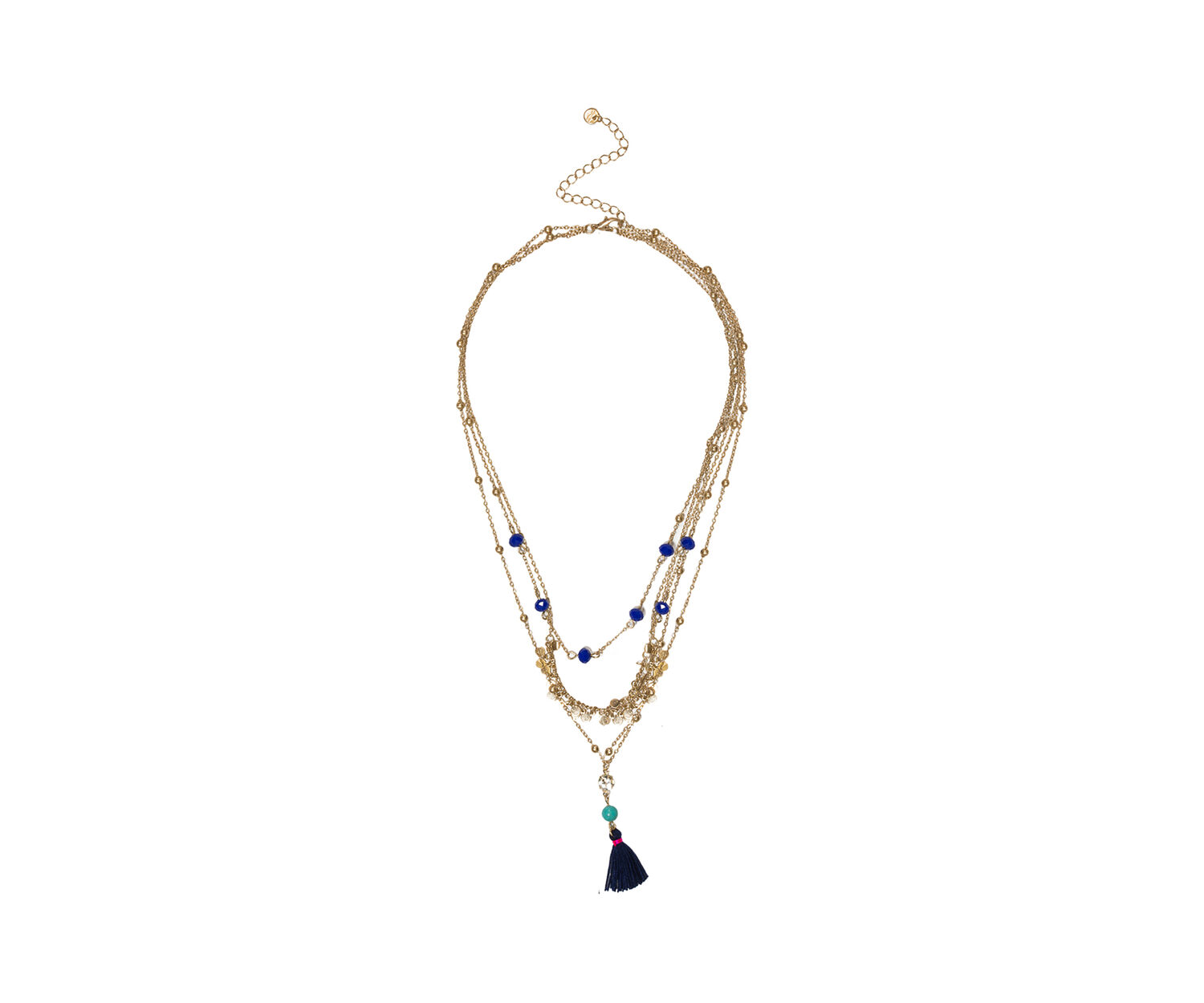 Oasis, LAYERED TASSEL NECKLACE Multi 1