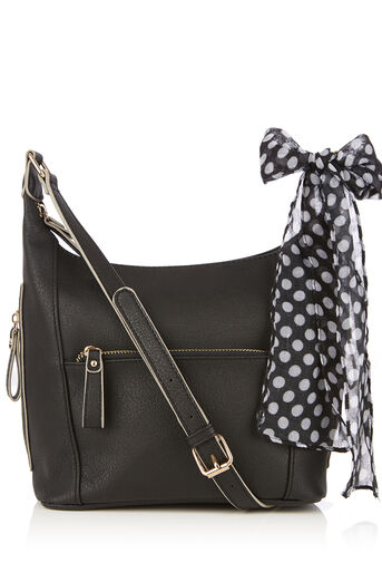 Oasis, ISSY CROSS BODY SCARF BAG Black 0