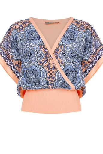 Oasis, Paisley Front Top Coral 0