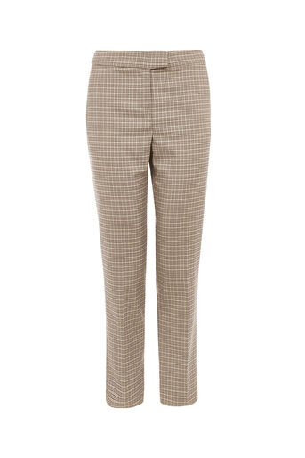 Oasis, CHECK SLIM LEG TROUSER Multi 0