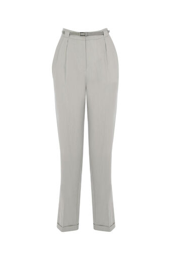 Oasis, BELTED PEG TROUSER Mid Grey 0
