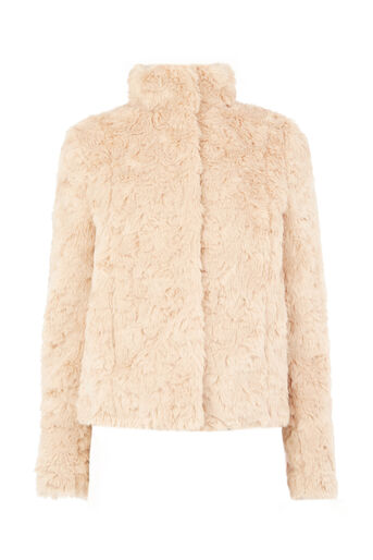 Oasis, MIMI FUR JACKET Mid Neutral 0