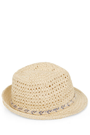 Oasis, PLAITED SPARKLE TRILBY Mid Neutral 0