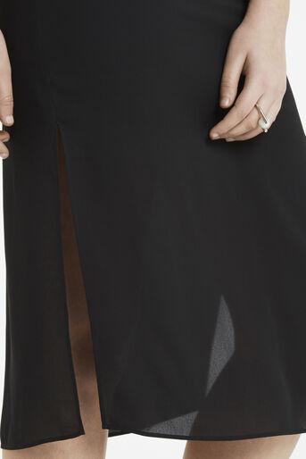 Oasis, V Neck Midi Dress Black 4