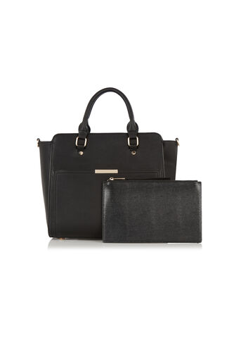 Oasis, Scarlett Work Bag with Clutch Black 3