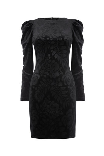 Oasis, NTU LACE PUFF SLEEVE DRESS Black 0