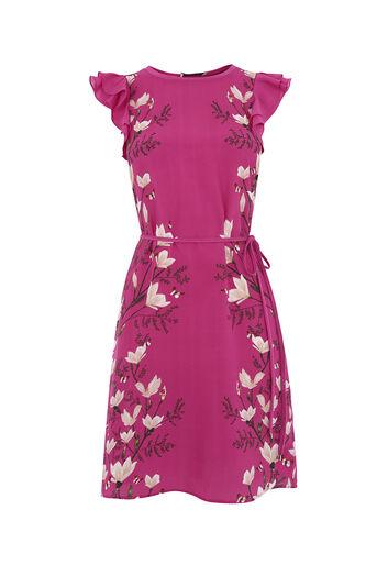 Oasis, magnolia ruffle dress Multi Pink 0