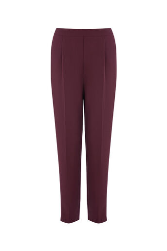 Oasis, SIDE STRIPE TROUSER Burgundy 0