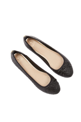 Oasis, Textured Ballerina Black 2