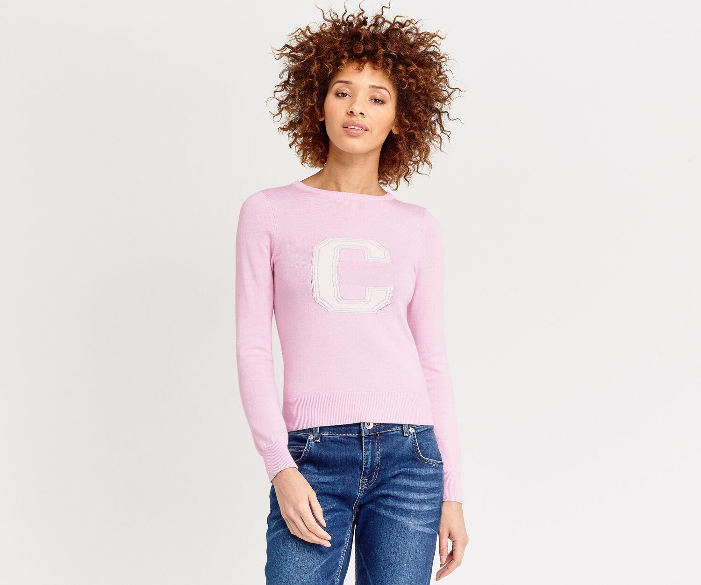 Oasis, LETTER JUMPER C Powder Pink 1