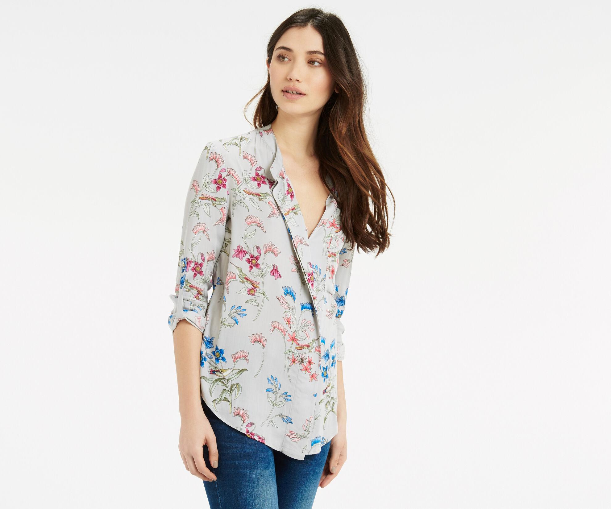 Oasis, Botanical Shirt Multi Grey 1